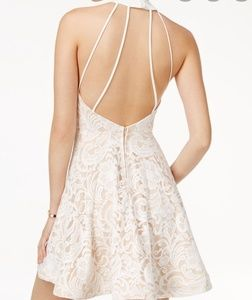 B. Darlin strappy back flare dress.  Sz 7/8